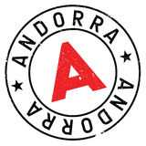 Lerciume della gomma del bollo dell'Andorra immagini stock