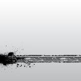 Lerciume della pista della gomma Fotografia Stock