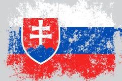 Lerciume della Slovacchia, vecchia, bandiera graffiata di stile Immagine Stock