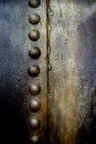 Lerciume di piastra metallica con i ribattini Immagine Stock Libera da Diritti