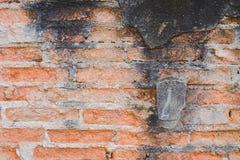 Lerciume e vecchia parete della costruzione con cemento ed il mattone fotografia stock libera da diritti