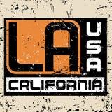 Lerciume grafico 3 di tipografia della città di Los Angeles Fotografia Stock Libera da Diritti