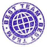 Lerciume MIGLIORE TEAM Stamp Seal strutturato Fotografia Stock