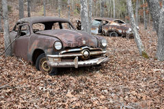 Lerciume Rusty Vintage Cars immagine stock