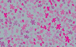Lerciume senza cuciture Daisy Flower Abstract Vector Background Immagini Stock