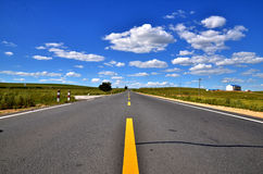 The bule sky and cloud and road Royalty Free Stock Images