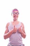 Lerdo com polegares acima Imagem de Stock Royalty Free