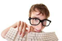 Lerdo com teclado Imagem de Stock Royalty Free