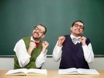Lerdos masculinos excitados Imagens de Stock Royalty Free