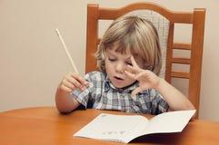Leren is moeilijk Royalty-vrije Stock Afbeelding