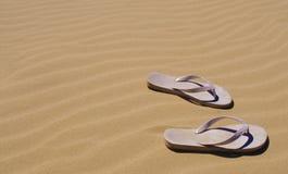 Leren riemen op het zand in Australië Stock Fotografie
