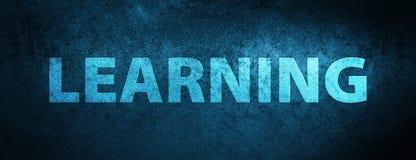 Lerende speciale blauwe bannerachtergrond Stock Afbeelding