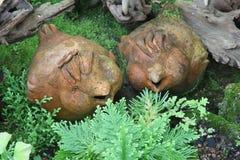 Lergods i trädgård royaltyfri fotografi