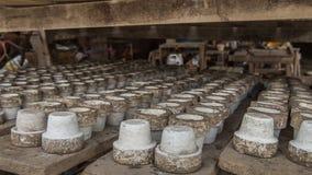 Lergodskvarterbakgrund, bruk för gjorda lergods Arkivfoto
