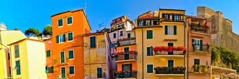 Lerici arkitektur, Italien Fotografering för Bildbyråer
