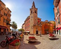 LERICI August 2015. Old square town of Lerici panoramic Stock Image