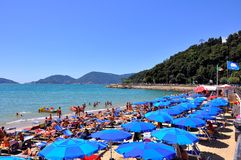 Lerici beach in Italy Royalty Free Stock Photography