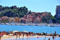 Lerici beach in Italy Royalty Free Stock Image