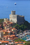 Lerici, the castle. Liguria, Italy. Lerici, the castle with sea in background. Liguria, Italy Royalty Free Stock Image