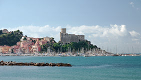 Lerici castle and marina - on the Med Stock Image