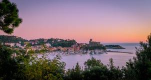Lerici hamn, La Spezia, Liguria, Italien royaltyfria bilder