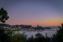 Lerici hamn, La Spezia, Liguria, Italien fotografering för bildbyråer
