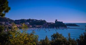 Lerici hamn, La Spezia, Liguria, Italien royaltyfri bild