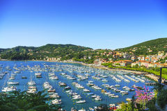 Lerici, harbor and village. Cinque terre, Ligury Italy Stock Image
