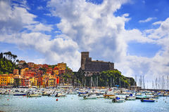 Lerici, harbor and village. Cinque terre, Ligury Italy Stock Images