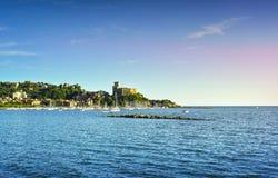 Lerici, harbor and village. Cinque terre, Ligury Italy stock images