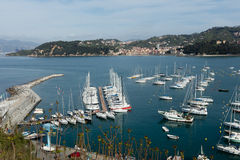 Lerici, Italy  view of port Royalty Free Stock Images