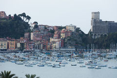 Lerici, Italy  view of port Royalty Free Stock Photos