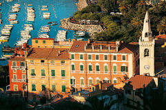 Lerici - La Spezia - Italy. Lerici typical seaside town in Liguria - Italy - The harbor and old buildings Royalty Free Stock Photos
