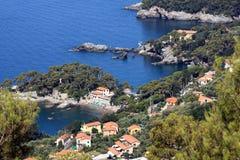 Lerici (Liguria, Italy). Coast landscape of Lerici, Golfo dei poeti located in Liguria, Italy Stock Photos