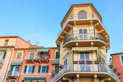 Lerici, Ligurian province, Italy. LERICI, ITALY - DECEMBER 25, 2015: Facade of several buildings in Lerici, Ligurian province, Italy Stock Photos