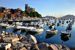Lerici typical village, Castle and port in Liguria Royalty Free Stock Photography