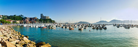 Lerici typical village, Castle and port in Liguria Royalty Free Stock Images
