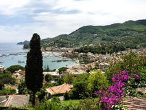 Lerici view of harbor. The beautiful small harbor at Lerici, Italy.  Lerici is part of the Italian Riviera Stock Photos