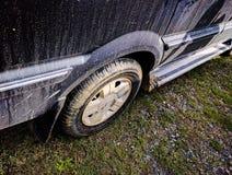 lerigt gummihjul för bil royaltyfri fotografi