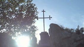 Lerins Abbey in Kannes stock video