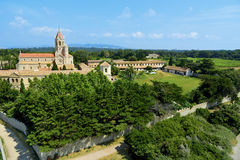 Lerins Abbey in Saint-Honorat island, France Royalty Free Stock Image