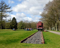 Lernen über den Holocaust Stockbilder