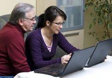 Lernen der Computer Stockbild