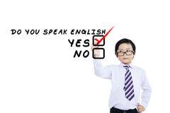Lernen der englischen Sprache für Kind 1 stockfotos