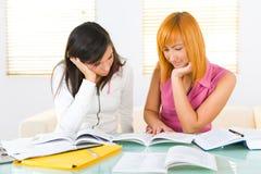 Lernen von Mädchen lizenzfreie stockfotos