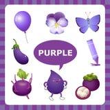 Lernen der purpurroten Farbe lizenzfreie abbildung
