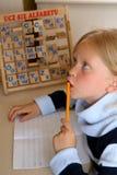 Lernen des Alphabetes Stockbilder