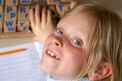 Lernen des Alphabetes Stockbild