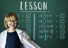 Lernen des Bildungs-Mathematik-Berechnungs-unterrichtenden Konzeptes Stockfoto