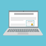 Lernen des Grafikdesigns, Vektorillustration Lizenzfreies Stockfoto